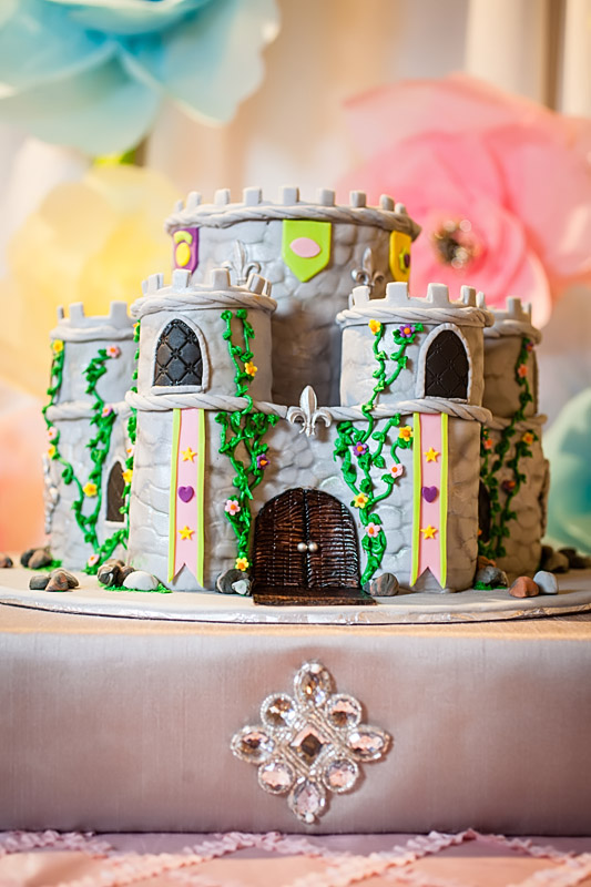 Castle cake for 4th Princess Party