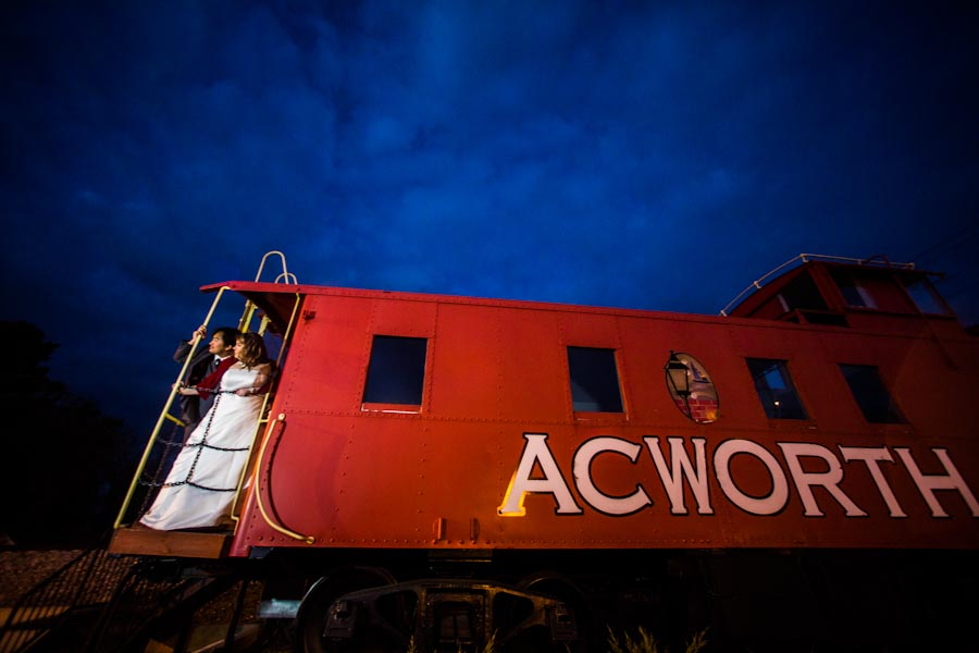 Acworth Train Wedding Photo