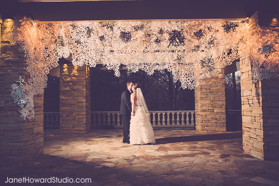 Snowflake winter wedding
