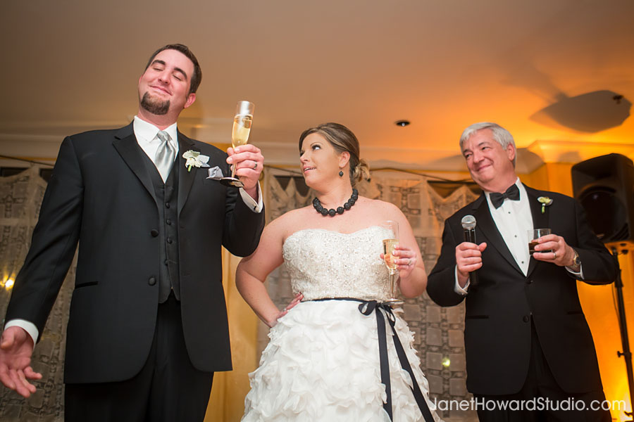 Wedding Toast at Villa Christina