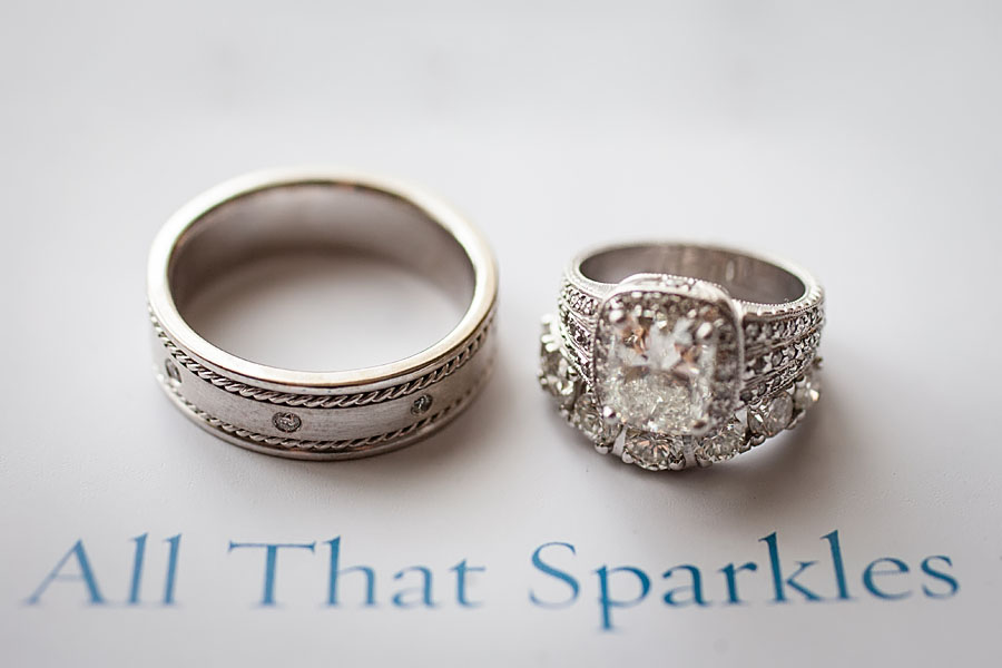 All That Sparkles wedding rings