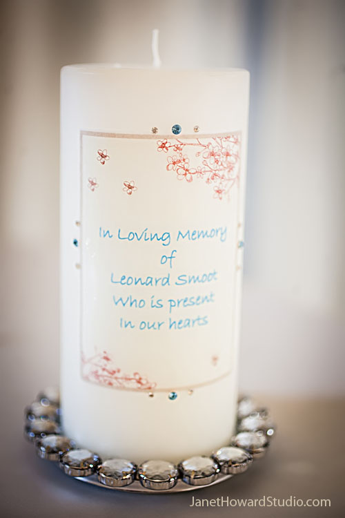 Wedding ceremony memory candle