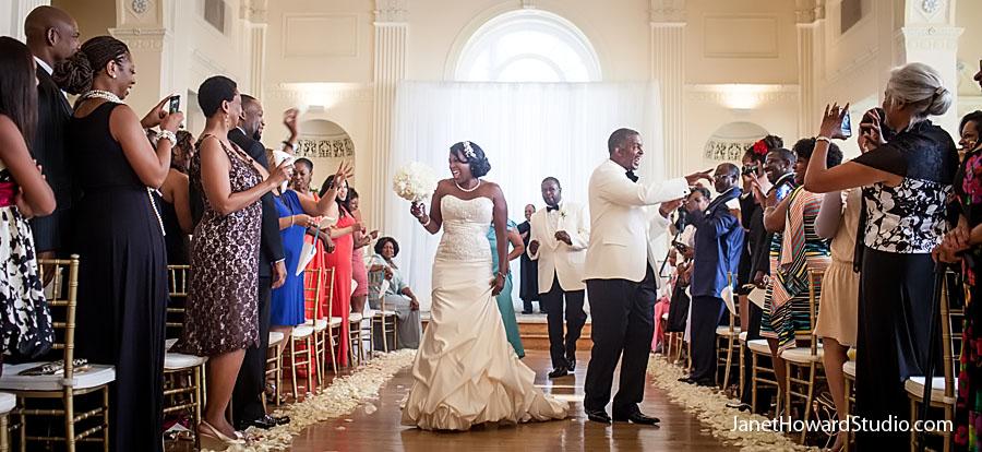 Jubilant ceremony exit at Atlanta Biltmore