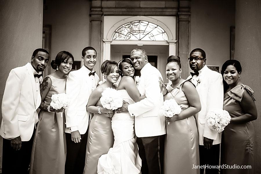 Wedding party at Atlanta Biltmore