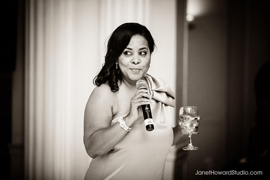 Wedding toast at Biltmore Ballroom Atlanta