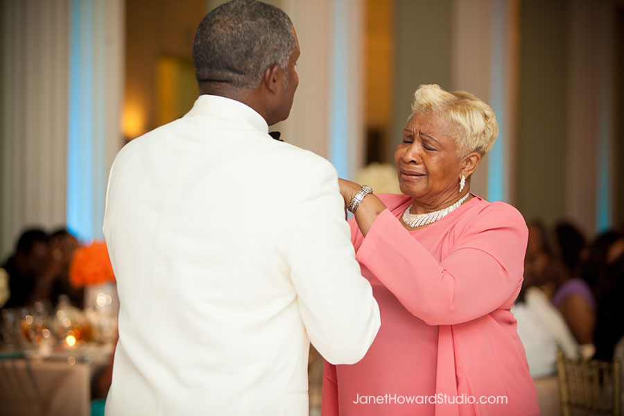 Mother Son dance at Atlanta Biltmore Ballroom wedding