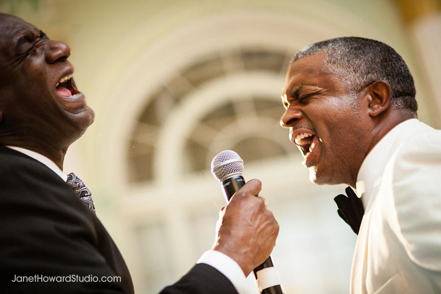 Groom serenades bride at Biltmore Ballrooms Atlanta Wedding