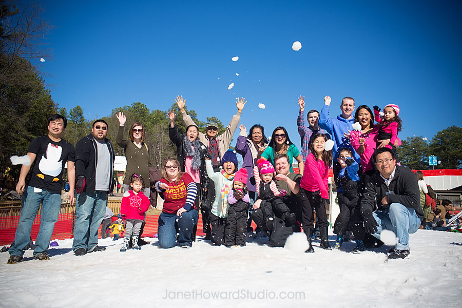 Snow Mountain family fun at Stone Mountain by Janet Howard Studio