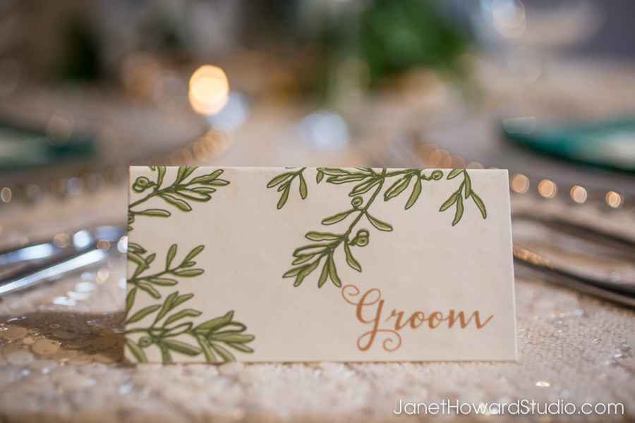 Groom placecards by Julia's Poppies