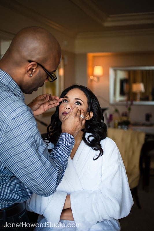 Bride at the St. Regis Atlanta. Hair & Makeup by Scoobie West.