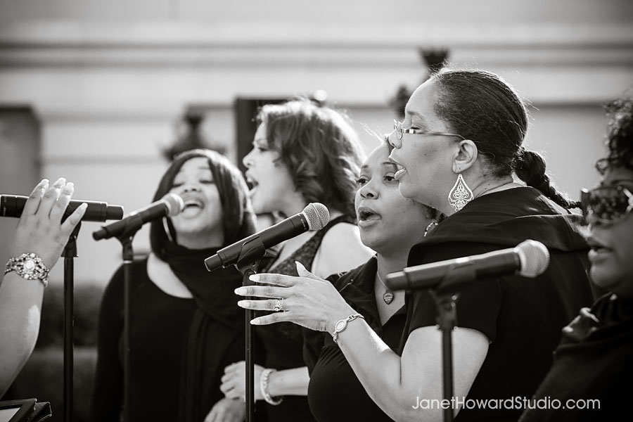 Gospel choir during wedding ceremony