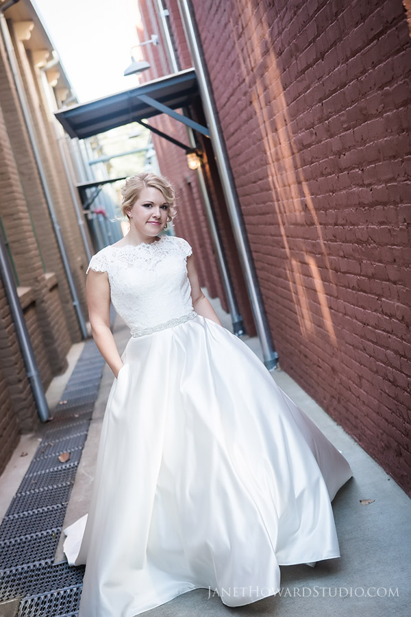 Bride at the Foundry at Puritan Mill